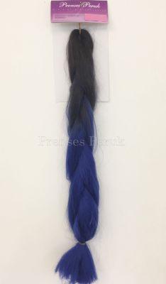 Afro Kaynak İçin Ham Saç Malzemesi Mavi Ombreli