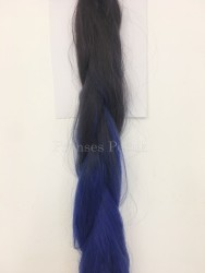 Afro Kaynak İçin Ham Saç Malzemesi Mavi Ombreli - Thumbnail