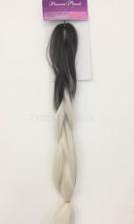Prenses Peruk - Afro Twist Saç Kaynak Modelleri Beyaz Gri Renk