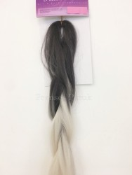 Afro Twist Saç Kaynak Modelleri Beyaz Gri Renk - Thumbnail