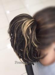 Balyajlı Örgülü Saç Sentetik Postiş - Thumbnail