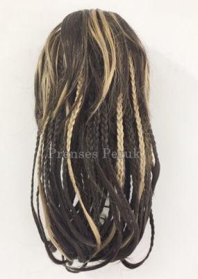 Balyajlı Örgülü Saç Sentetik Postiş