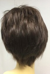 Boyasız Doğal Saç Kısa Kesim Gerçek Saç Peruk - Thumbnail