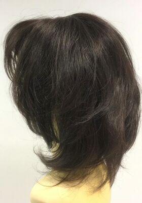 Boyazsız Orta Boy Doğal Model Katlı Kesim Gerçek Saç Peruk
