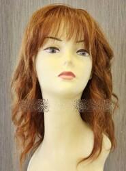 Prenses Peruk - Canlı Bakır Renk %100 Gerçek Saç Doğal Peruk