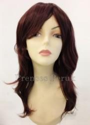 Prenses Peruk - Canlı Kızıl Işıltılı Uzun Boy Katlı Peruk
