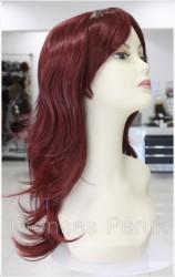 Prenses Peruk - Canlı Kızıl Uzun Doğal Rapunzel Peruk
