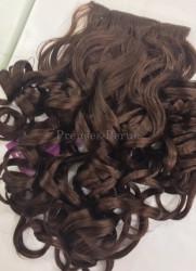 Prenses Peruk - Çikolata Kahvesi Dalgalı Gür ÇıtÇıt Saç Seti