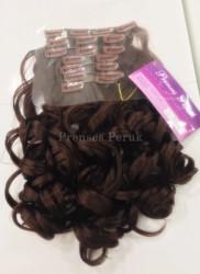 Çikolata Kahvesi Dalgalı Gür ÇıtÇıt Saç Seti - Thumbnail