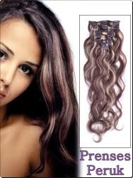 Prenses Peruk - ÇıtÇıt Saç 8 Adet Maşalı Isıya Dayanıklı Sentetik