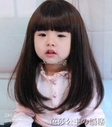 Prenses Peruk - Çocuk Peruk Uzun Düz Kesim Doğal Model