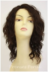 Prenses Peruk - Dalgalı Gerçek Saç Peruk