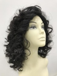 Prenses Peruk - Doğal Dalgalı Gerçek Saç Gizli Ayrım Peruk