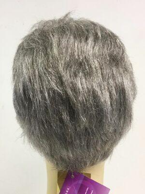 Doğal Gri Tonunda Gerçek Saç Erkek Peruk