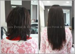 Prenses Peruk - Doğal Kestane Uzun Boncuk Saç Kaynağı