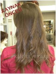 Prenses Peruk - Doğal Kumral Boyasız Saç Boncuklu Saç Kaynak