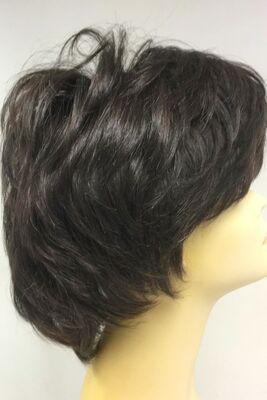 Doğal Renk Kısa Boy Gür ve Hacimli Gerçek Saç Peruk