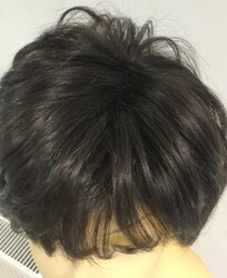 Doğal Renk Kısa Boy Gür ve Hacimli Gerçek Saç Peruk - Thumbnail