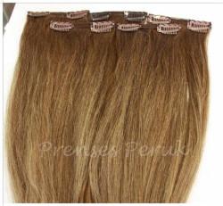 Prenses Peruk - Doğal Saç Çıtçıt Takımı 5 Adet Kumral Renk