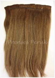 Doğal Saç Çıtçıt Takımı 5 Adet Kumral Renk - Thumbnail