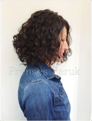 Doğal Saç Dalgalı Medikal Peruk