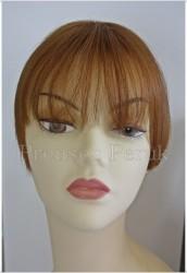 Prenses Peruk - Doğal Saç Kakül Perçem Postiş Karamel