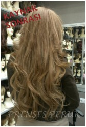 Prenses Peruk - Mikro Boncuk Saç Kaynak Uygulaması 200 Adet