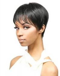 Prenses Peruk - Doğal Saç Kısa Modern Protez Saç Ünitesi