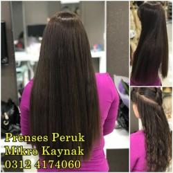 Prenses Peruk - Doğal Saç Mikro Kaynak Uygulaması 60 cm