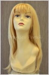 Prenses Peruk - Doğal Saç Peruk Uzun Sarı
