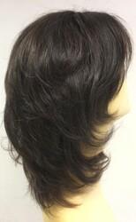 Doğal Siyah Renk Hafif Gerçek Saç Peruk Modeli - Thumbnail