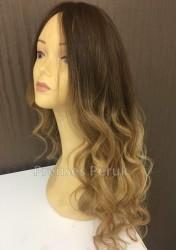 Prenses Peruk - Dolgun Saç Sarı Ombreli Muhteşem Peruk