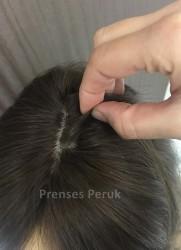 Dolgun Saç Sarı Ombreli Muhteşem Peruk - Thumbnail
