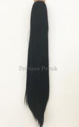 Prenses Peruk - Fiber Sentetik 60 cm Siyah Gür Postiş Atkuyruk