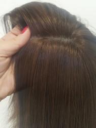 Gerçek Saç Kısa Boy Doğal Medikal Peruk - Thumbnail