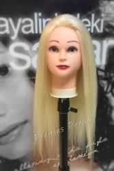 Prenses Peruk - Gerçek Saç Kuaför Eğitim Çalışma Mankeni