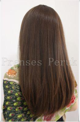 Gerçek Saç Medikal Peruk Uzun Boy Canlı Renk