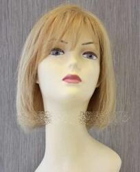 Prenses Peruk - Gerçek Saç Peruk Sarı Küt Doğal