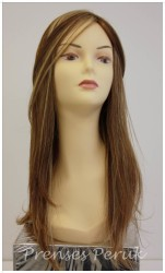 Prenses Peruk - Gerçek Saç Peruk Uzun Modern Yan Kakül