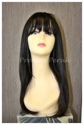 Prenses Peruk - Gerçek Saç Peruk Uzun Siyah