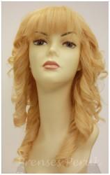 Prenses Peruk - Gerçek Saç Sarı Dalgalı Peruk