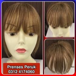 Prenses Peruk - Gerçek Saç Tepelik Kahkül (İstediğiniz Renge Boyayıp Gönderiyoruz)