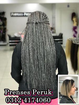 Gri Saç Twist Afro Dalgası Kaynak