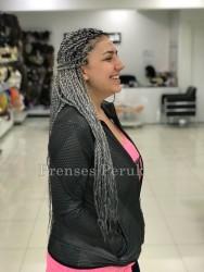 Gri Saç Twist Afro Dalgası Kaynak - Thumbnail