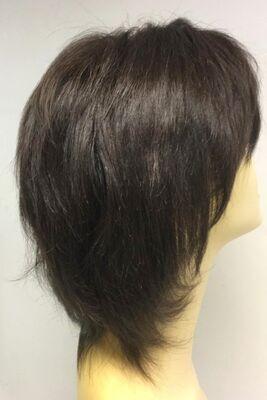 İnce İşçilik Doğal Kesim Gerçek Saç Peruk Modeli