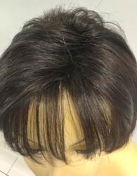 İnce İşçilik Doğal Kesim Gerçek Saç Peruk Modeli - Thumbnail
