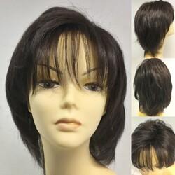 Prenses Peruk - İnce İşçilik Doğal Kesim Gerçek Saç Peruk Modeli