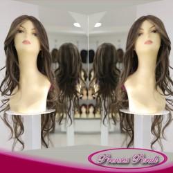 Prenses Peruk - Isıya Dayanıklı Uzun Boy Kumral Peruk