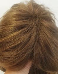 Karamel Katlı Kesim Doğal Model Sentetik Peruk - Thumbnail