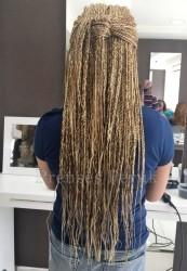Karamel Röfleli Afro Örgüsu Kaynak - Thumbnail